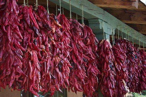 Chile Pepper, New Mexico, New, Pepper, Ristra, Pod, Hot