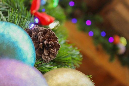Christmas, December, Pine, Ball, Decoration, Trim, Tree