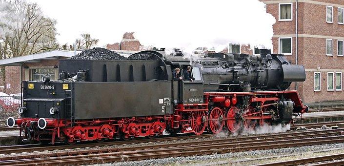 Steam Locomotive, Rank, Railway, Steam, Nostalgia