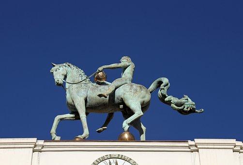 Monument, Iron, Horse, Sculpture, Statue, Symbol