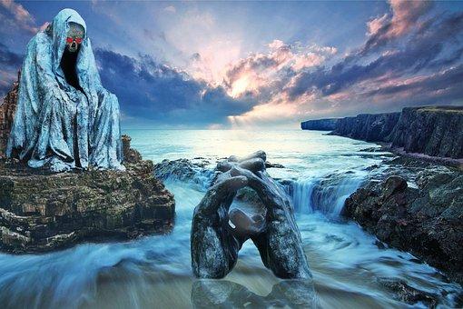 Sea, Fantasy, Landscape, Wave, Water