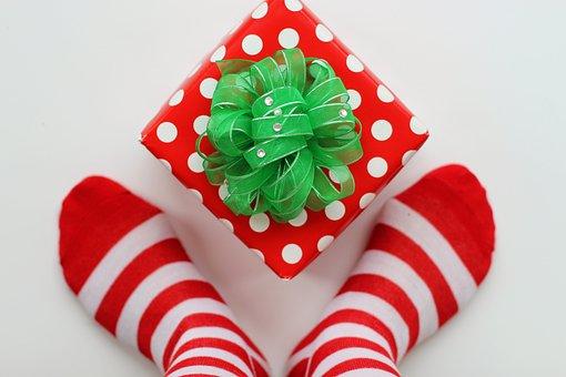Christmas, Socks, Present, Stockings, Elf, Fun, Silly