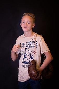 Child, Boy, One, Box, Fighter, Sport