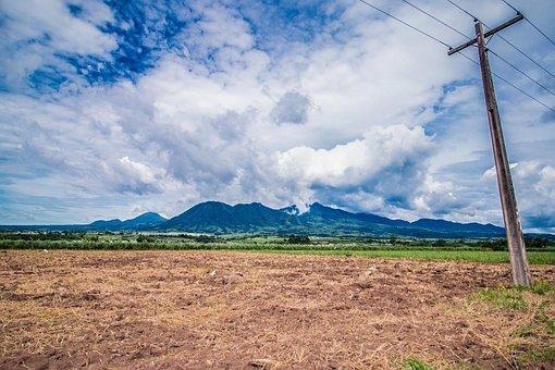 Mountain, Sugarcane, Negros Island, Philippines, Crop