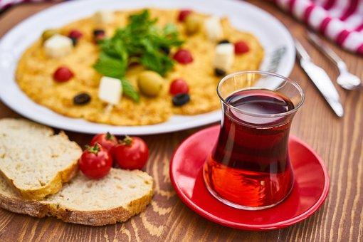 Tea, Omelet, Breakfast, Yellow, Egg, Fresh, Health
