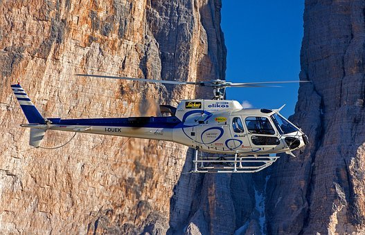 Helicopter, Elikos, South Tyrol, Three Zinnen