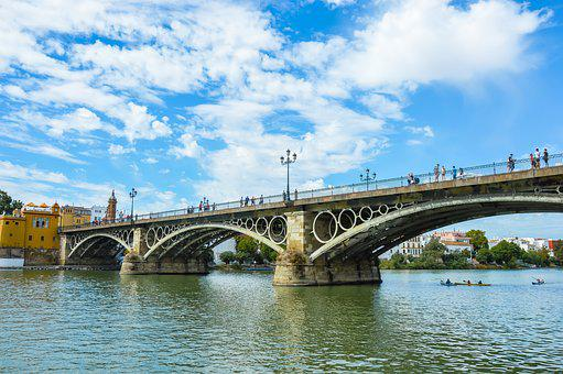Bridge, Triana, Seville, Andalusia, Spain, Metal, City
