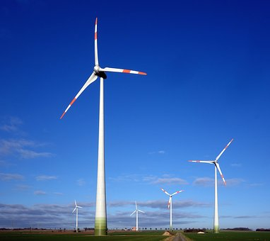 Pinwheel, Wind Power Plant, Wind Park, Renewable Energy