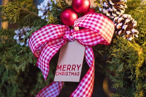 Christmas, Wreath, Merry Christmas, Christmas Wreath