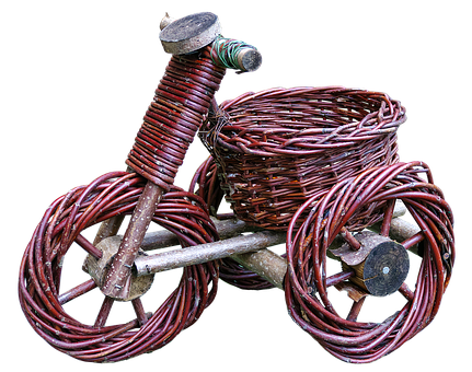 Tricycle, Basket Ware, Woven, Craft, Wicker Basket