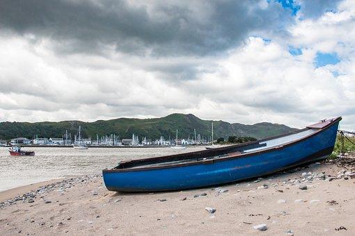 Beach, Sea, Boat, Water, Sand, Seashore, Tourism