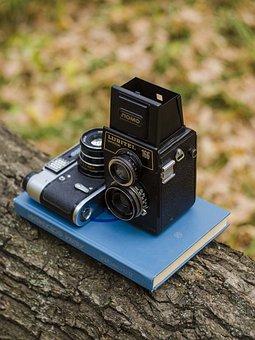Camera, Book, Tree, Exhibit, World Map, Still Life
