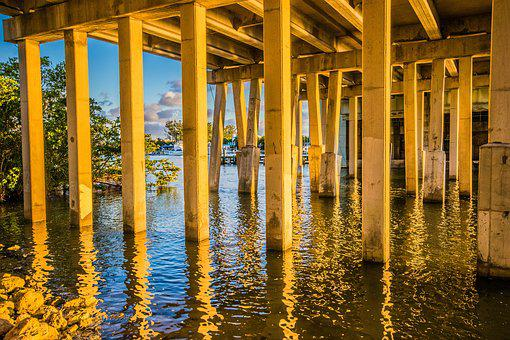 Bridge, Water, Support, Suspension, Transportation
