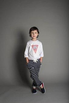 Model, Boy Model, Posing, Studio, Background, Child