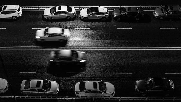 Automotive, Nobody, City, Be Quiet, Highway, Night View