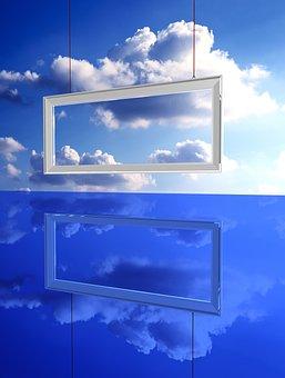 Sky, Frame, Clouds, Cold, Light, Horizon, Poster