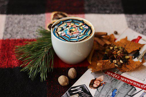 Coffee, Leaves, Comfort