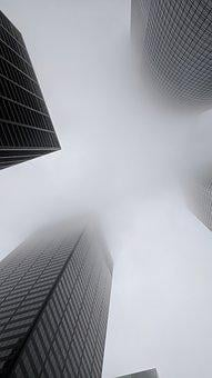Cities, Houston, Us, Downtown, Fog