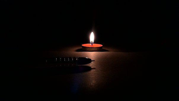 Light, Candle, Pen, Flame, Dark, Burnt, Insubstantial