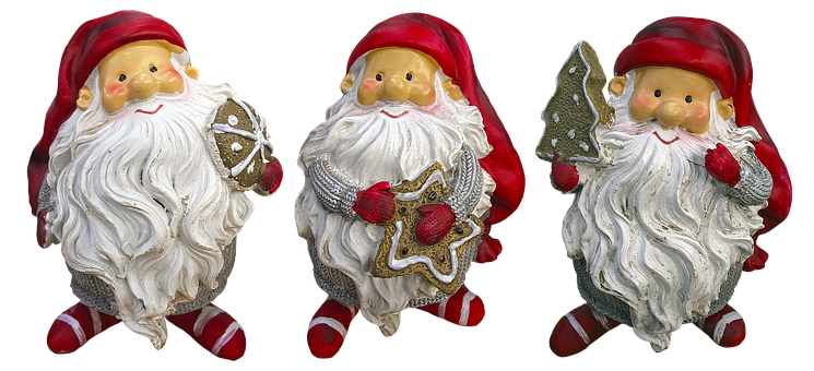 Imp, Christmas Elves, Santa Claus, Ceramic, Figure