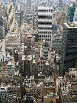 New York City, Manhattan, Landscape, Towers, Buildings