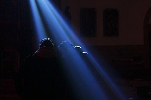 Spotlight, Light, Darkness, Ray Of Light, Stage, Blur