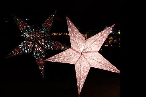Christmas Market, Star, Christmas, Lighting, Advent
