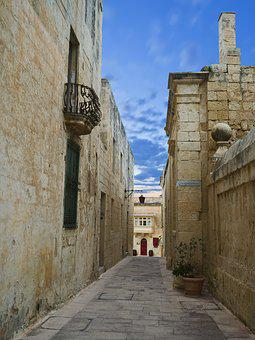 Mdina, Alley, Medina, Malta, Valletta, Maltese Islands