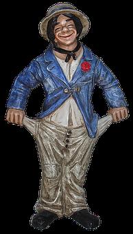 Sculpture, Pocket, Man, Ceramic, Figure, Male, Clothing