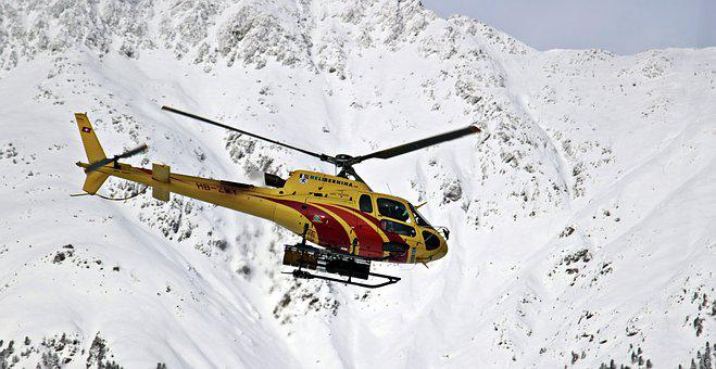 Helicopter, Mountains, Snow, Accident Rescue