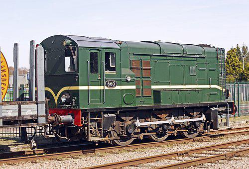 Old Diesel Locomotive, Dutch, Netherlands