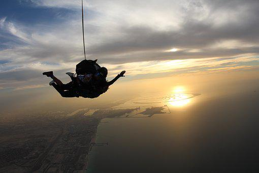 Skydiving, Overcoming, Dubai, Fly, Paratroopers