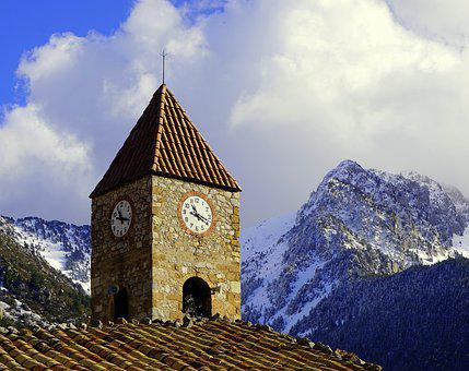 Bell Tower, Mountain, High Mountain, Pyrenee Catalunya