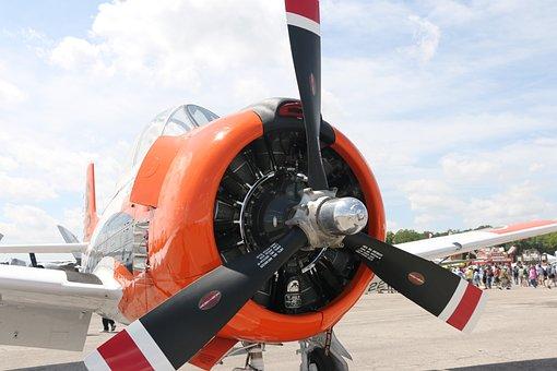 Plane, Radial Engine, Propeller