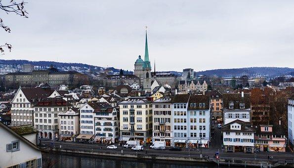 Fraumünster, Church, Cathedral, Zurich, Limmat, River