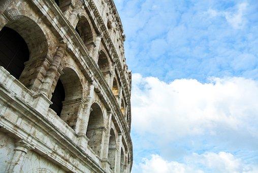 Colosseum, Rome, Italy, Roman Forum, Architecture