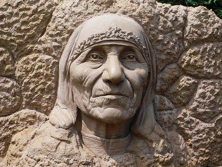 Stone, Mother Theresa, Sculpture, Compassion