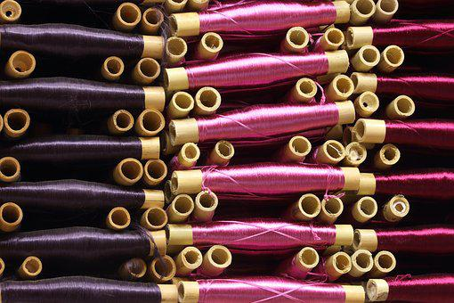 Thread, Fabric, Sewing, Clothes, Spool, Bamboo, Textile