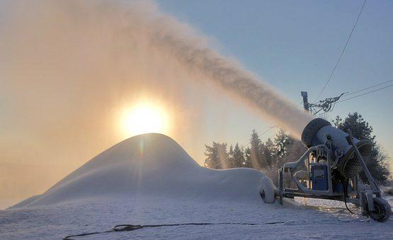 Snow, Machine, Winter, Cannon, Spray, Snowmaker, Resort