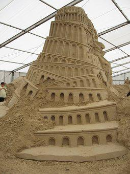 Tower, Sand Picture, Sculpture