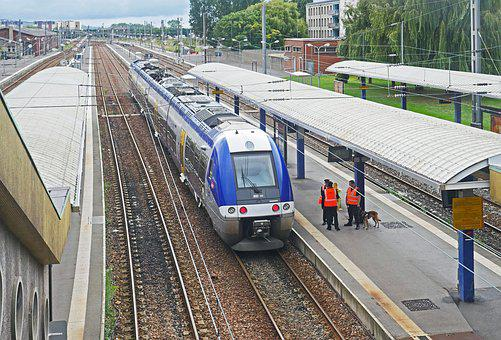 Calais, City Station, Northern France, Track Climb