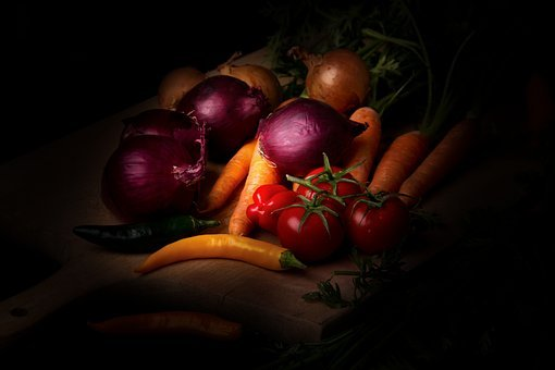 Vegetables, Dark Mood, Food Photography, Carrots