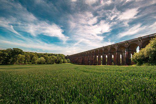 Bridge, Viaduct, Sky, Railroad, Architecture, Outdoor
