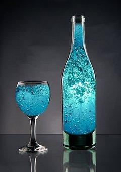 Bottle, Bottle Of Water, Water, Turquoise, Blue
