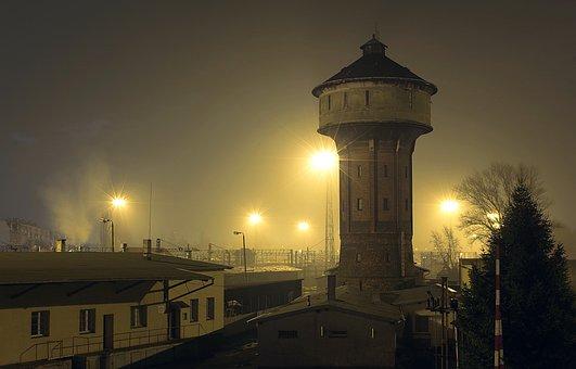 Water Tower, Waterworks, Railway Station, Old Buildings
