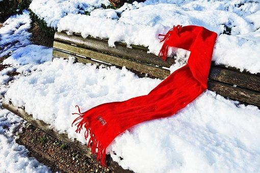 Scarf, Red Scarf, Woolen, Clothing, Winter, Warm