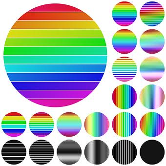 Circle, Dot, Multicolored, Abstract, Logotype, Circular