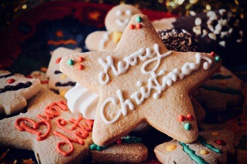 Christmas, Cracker, Gingerbread, Cake, Sugar, Biscuits