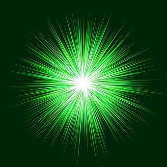 Green, Blast, Background, Explode, Stripes, Sparkling