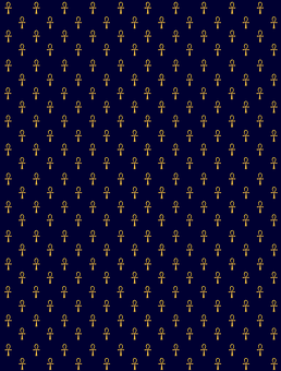 Life Anchor, Wrapping Paper, Ancient Egyptian, Blue